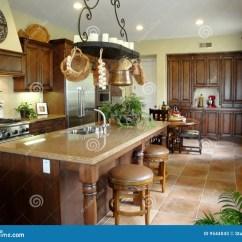 Kitchen Pot Rack Low Cost Sinks Beautiful Italian Style Stock Photos - Image: 9544043