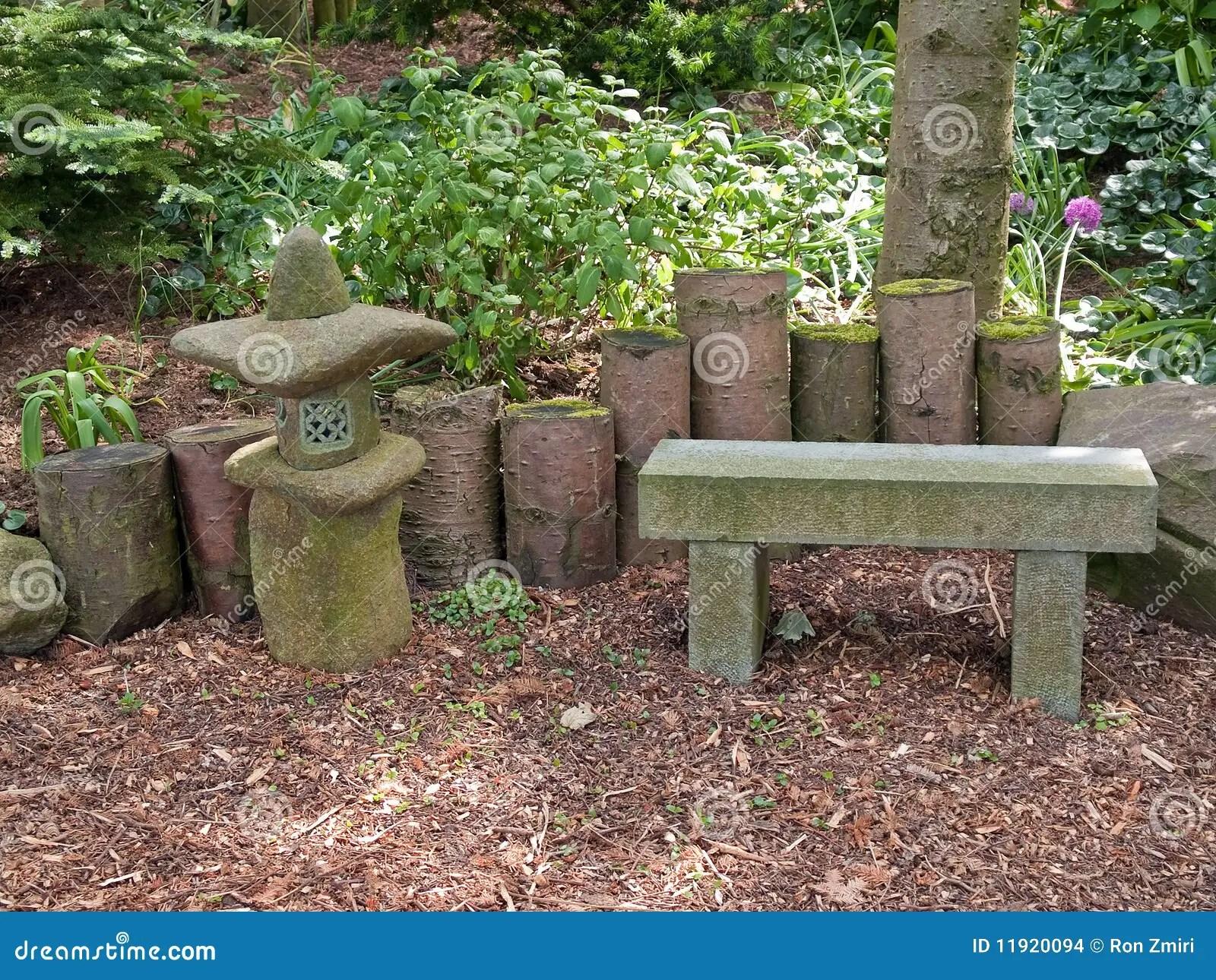 wood patio chair plans ikea harry covers beautiful japanese garden romantic seating corner stock photo - image: 11920094
