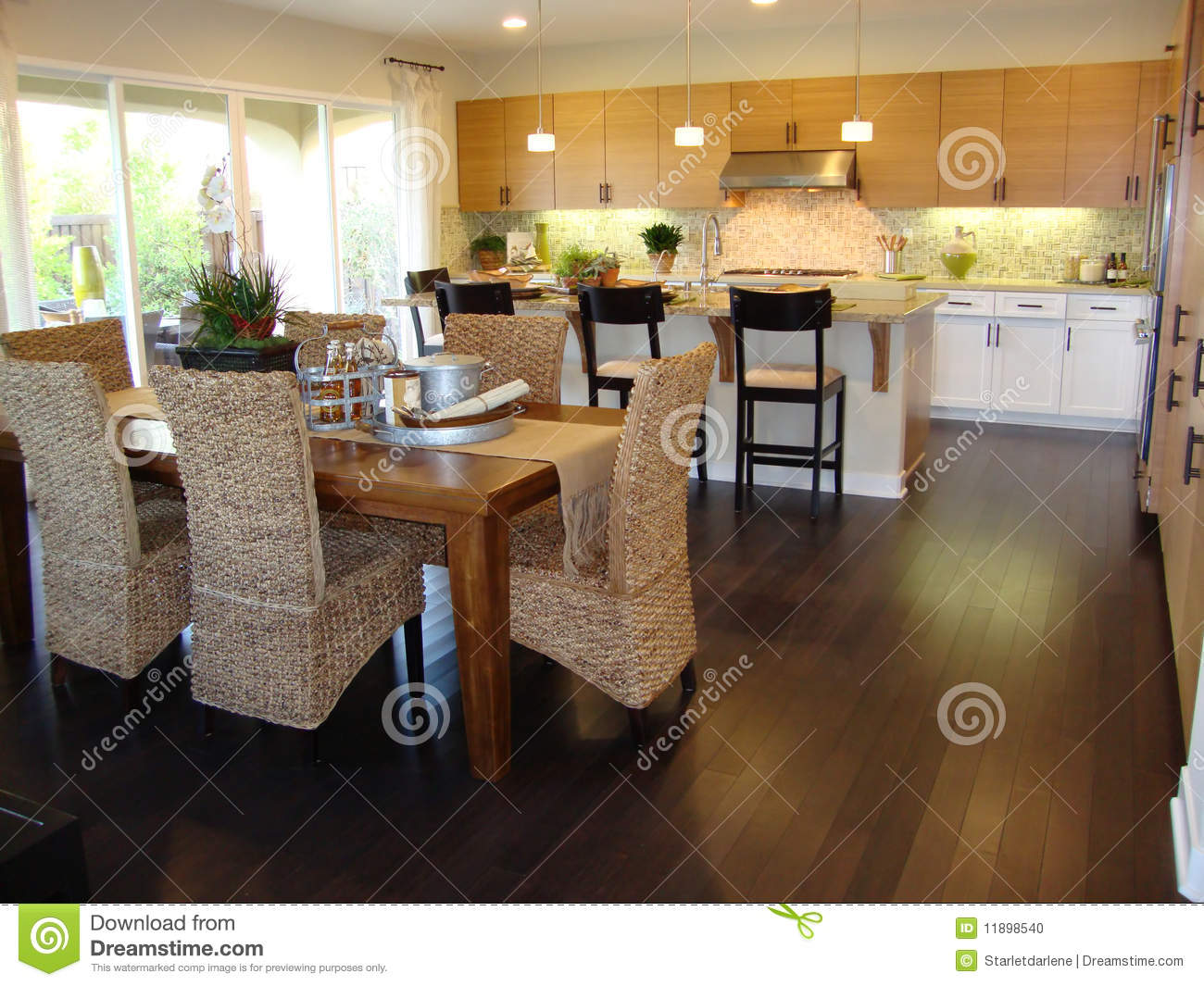 Beautiful Kitchen And Dining Room Stock Photo Image Of