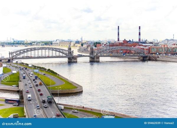 beautiful landscape of neva river