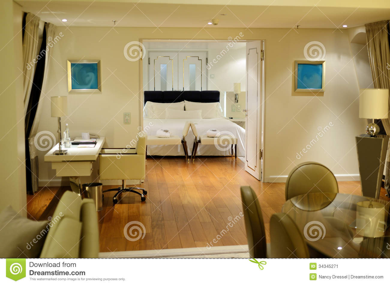 Beautiful Large Room In Spa Hotel Stock Image Image