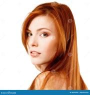 beautiful long red healt hair of