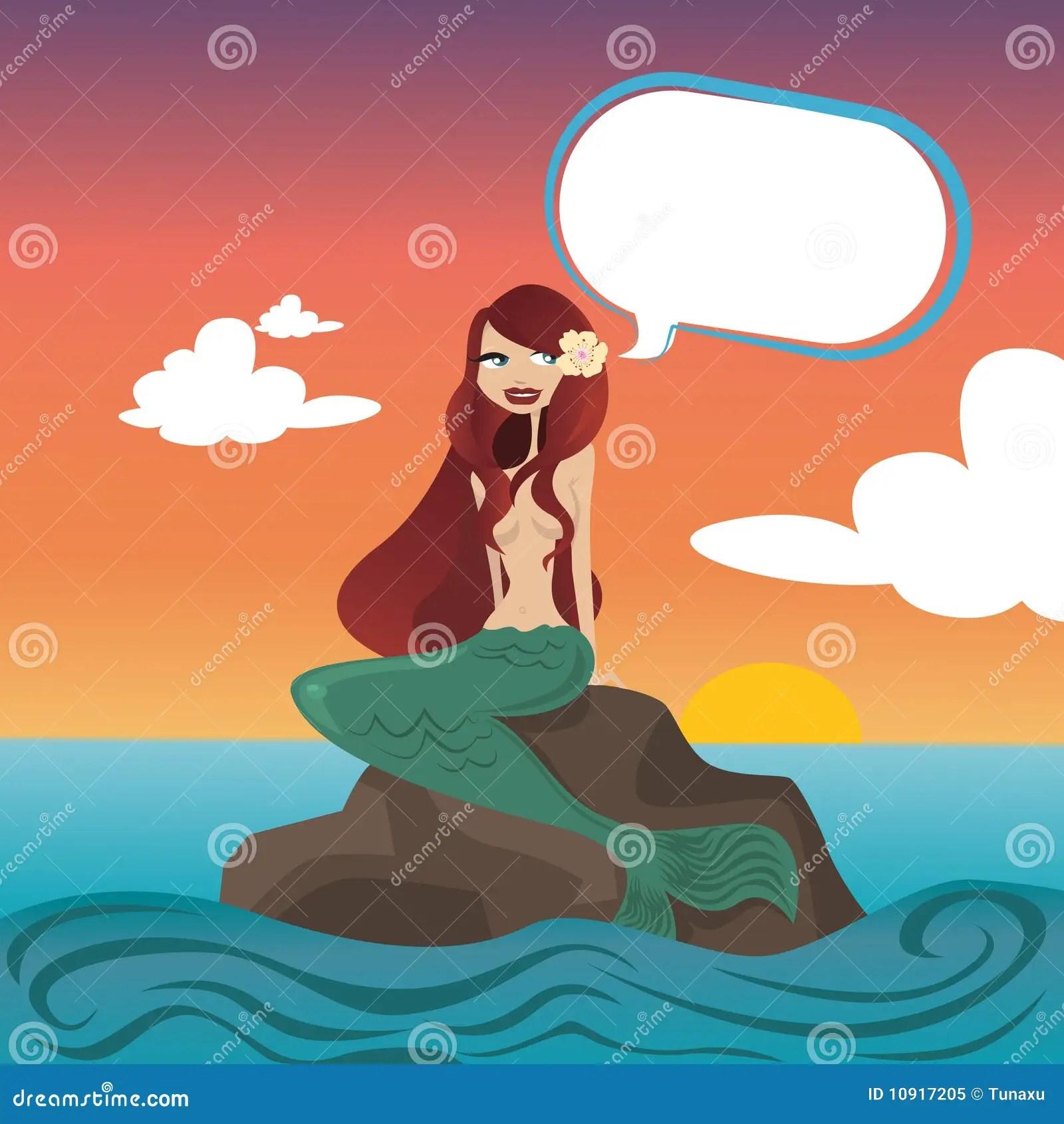 Fantasy Wallpaper Little Girl Beautiful Mermaid Royalty Free Stock Photo Image 10917205