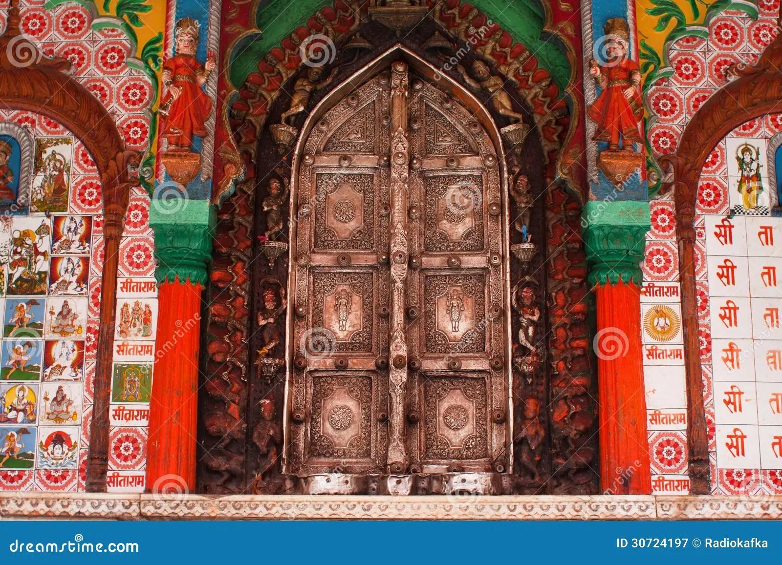 Beautiful Metal Doors Of The Hanuman Temple Editorial