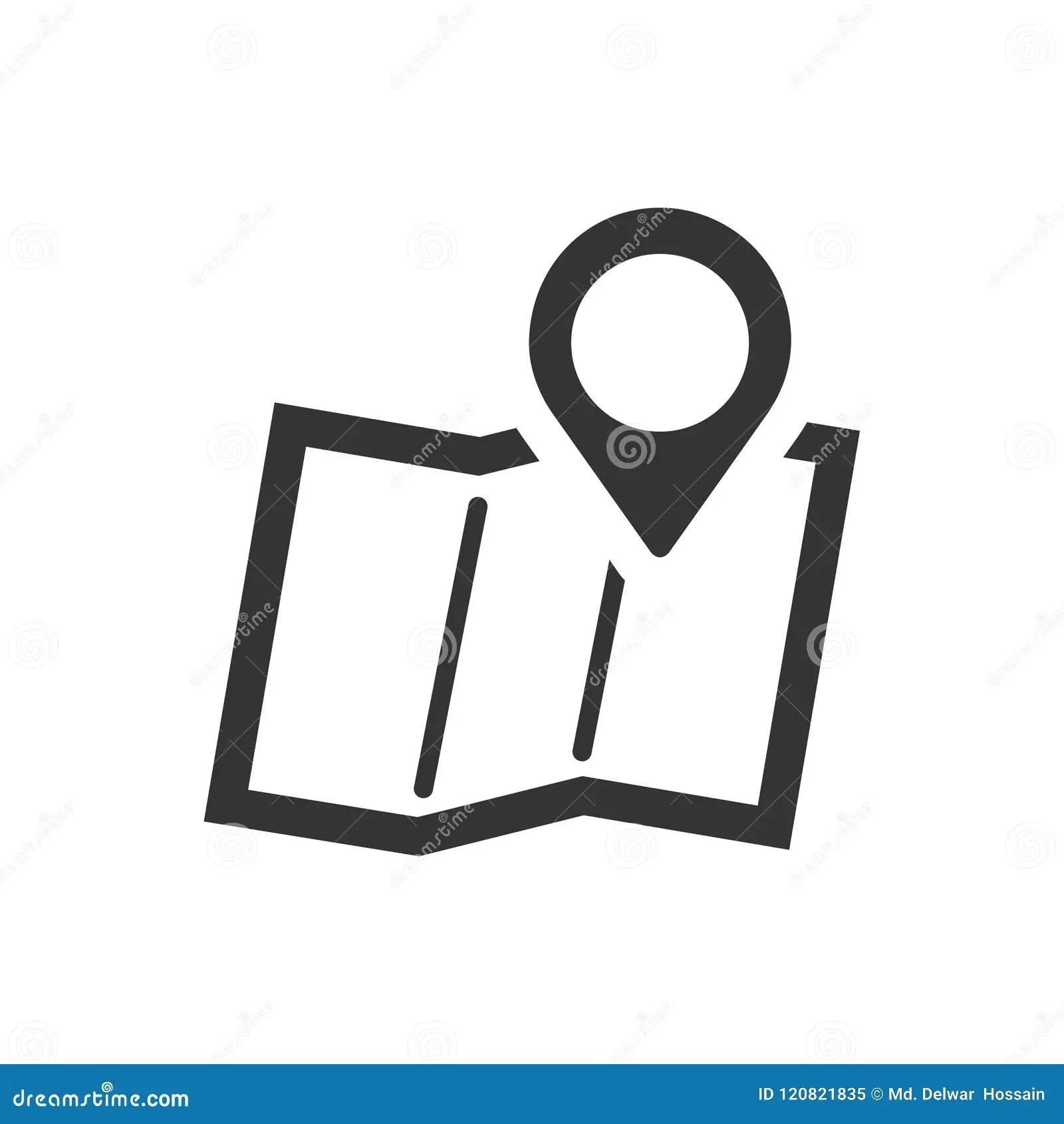 Address Location Icon Stock Vector Illustration Of