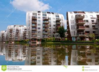 apartment buildings modern residential architecture dutch nice royalty bosch building homes den built houses newly netherlands neighborhood canal dreamstime
