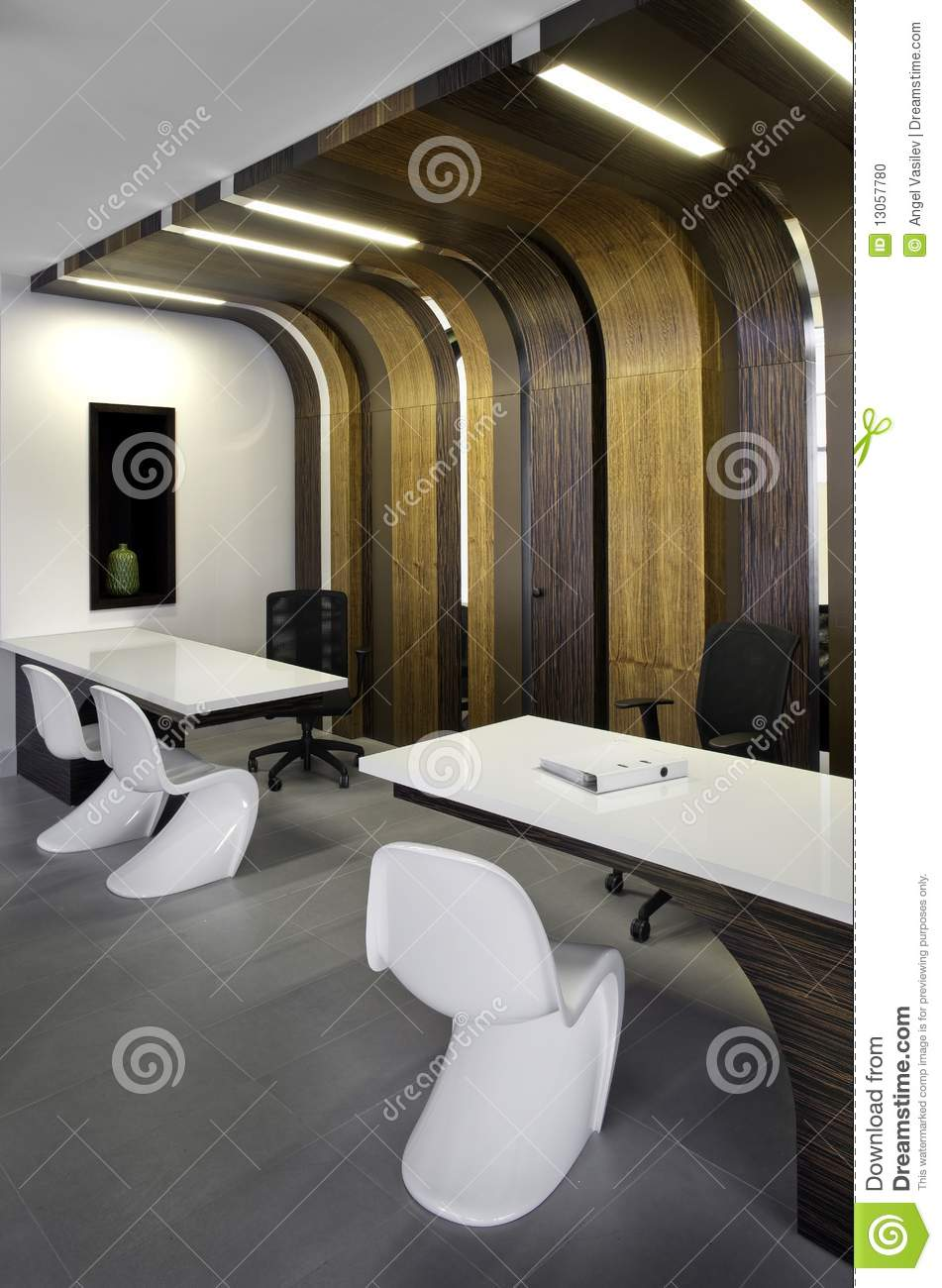 Beautiful And Modern Office Interior Design Stock Photo