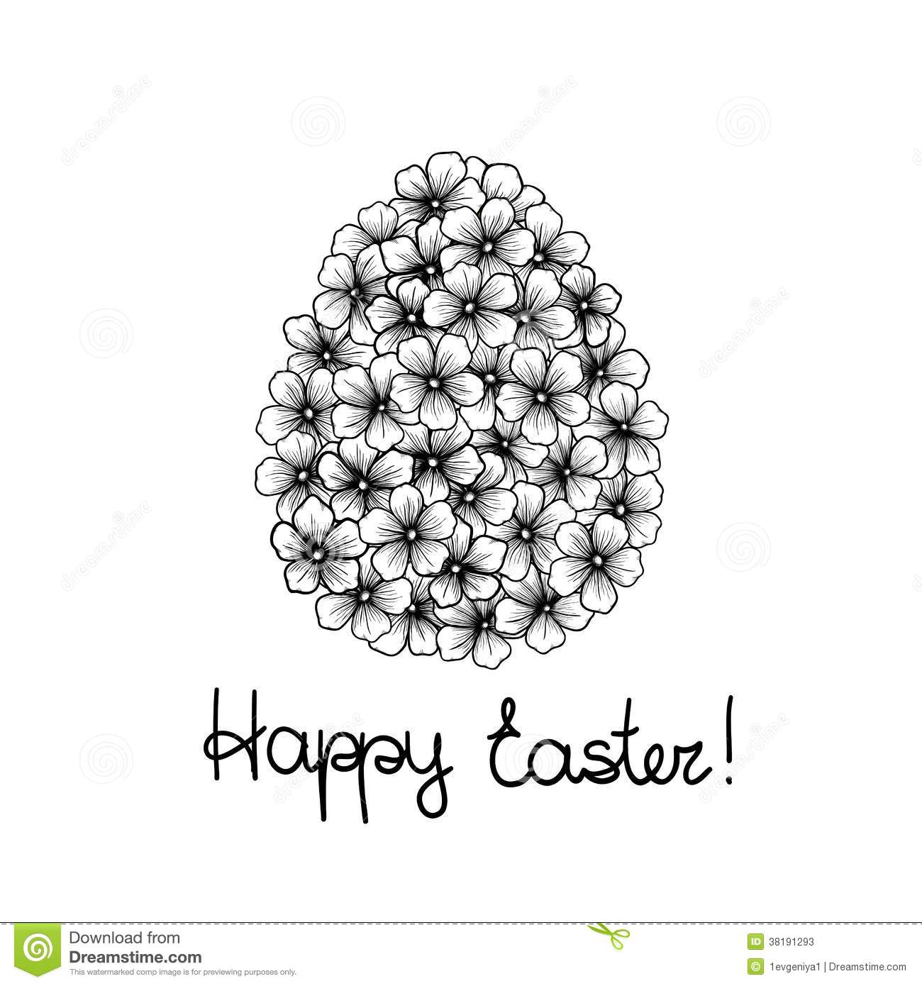 Beautiful Monochrome Black And White Easter Greeting Card