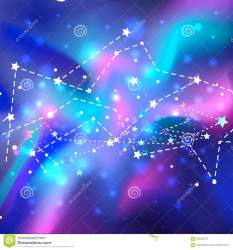 Beautiful Mystic Galaxy Vector Cosmic Background Outer Space Stock Vector Illustration of milky deep: 93026376