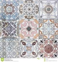 Beautiful Old Ceramic Tile Wall Patterns Stock Photo ...