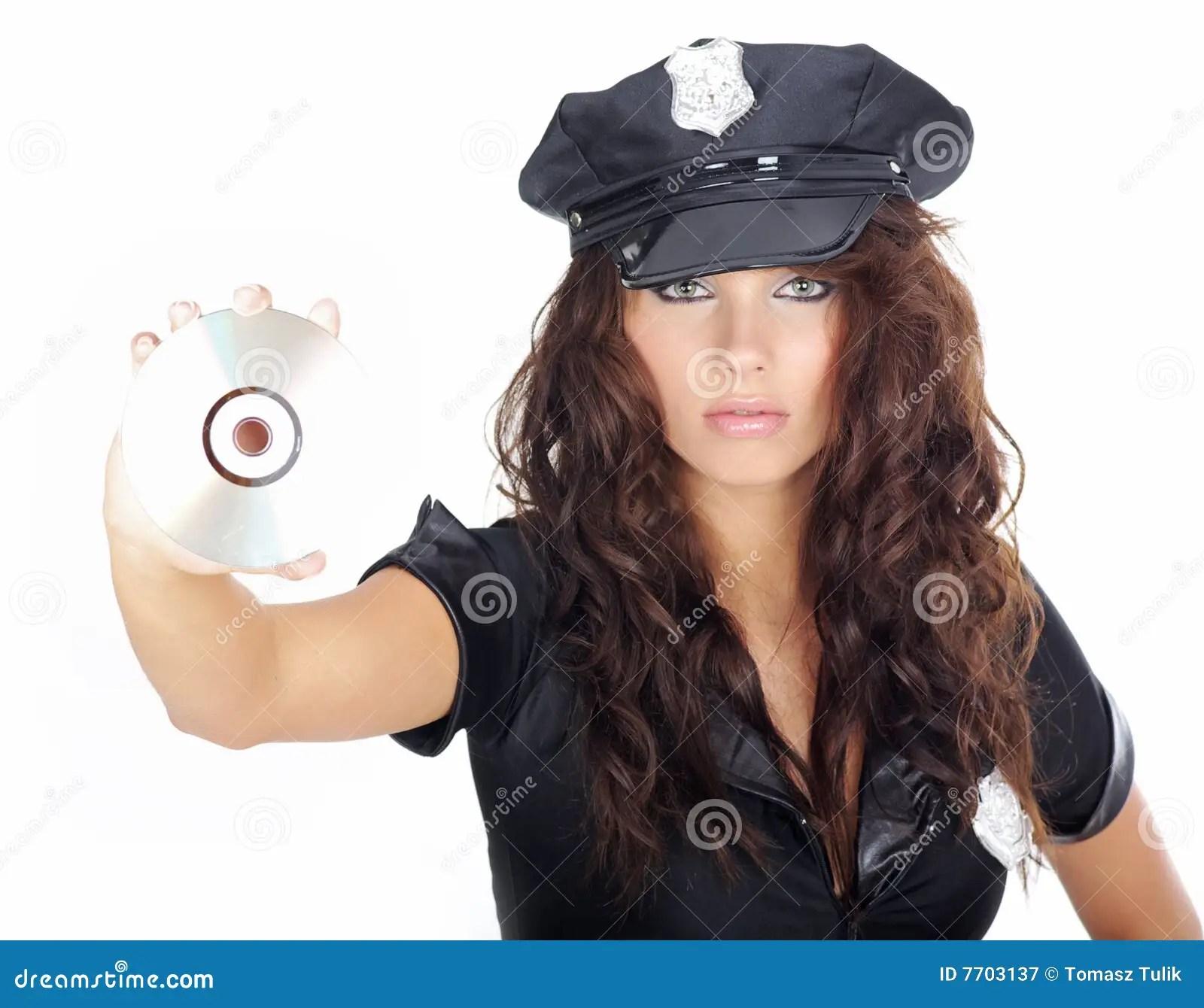Beautiful Police Girl Royalty Free Stock
