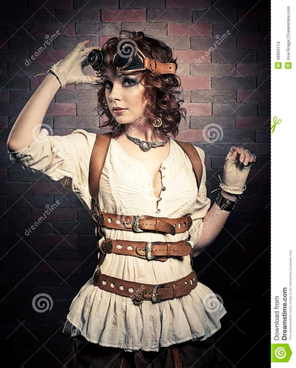 Woman with Steampunk Goggles