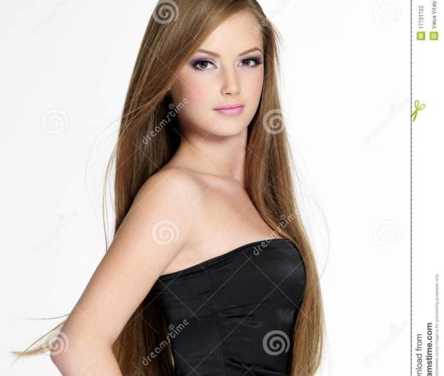 Beautiful Sensuality Teen Girl With Long Hair