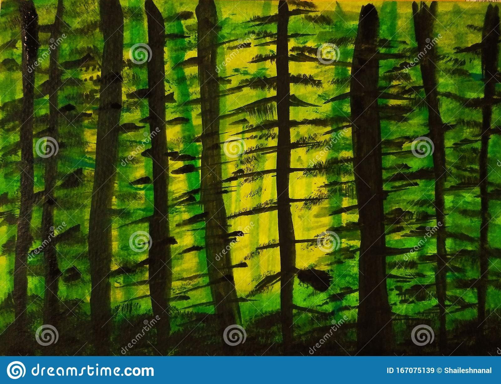 2.e drawing grass dense watercolor the grass is done either on the bg2/tree layer or bg 1. Dense Forest Stock Illustration Illustration Of Jungle 167075139