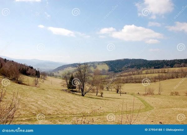 beautiful southern poland landscape