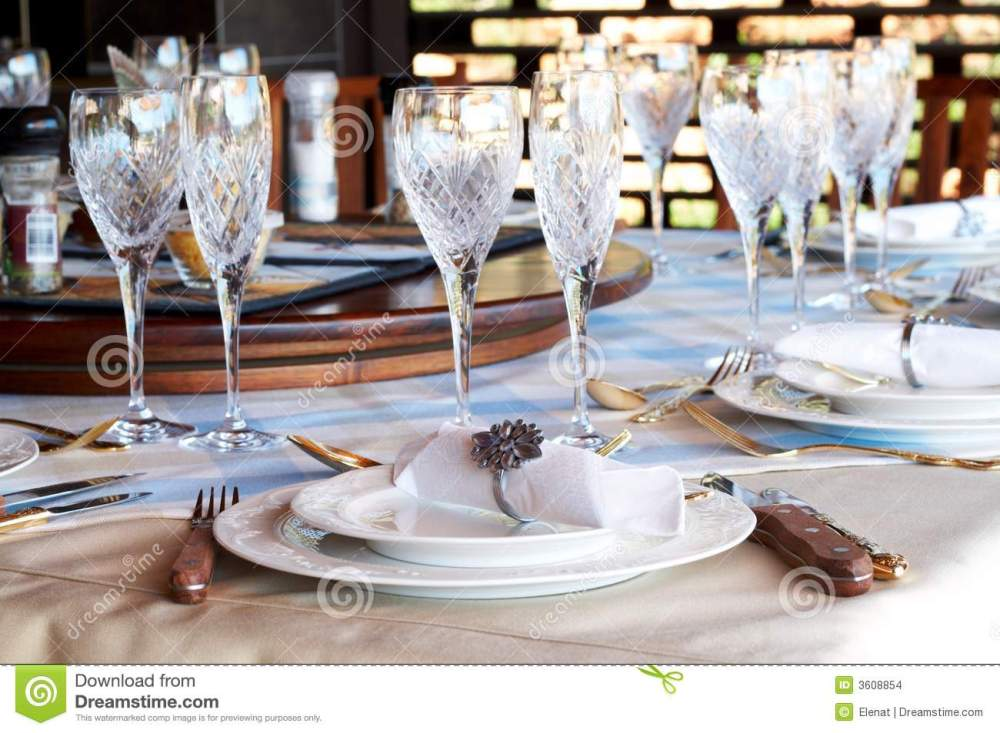 medium resolution of beautiful table setting with crystal glasses stock photo image of rh dreamstime com american formal table setting table setting diagram
