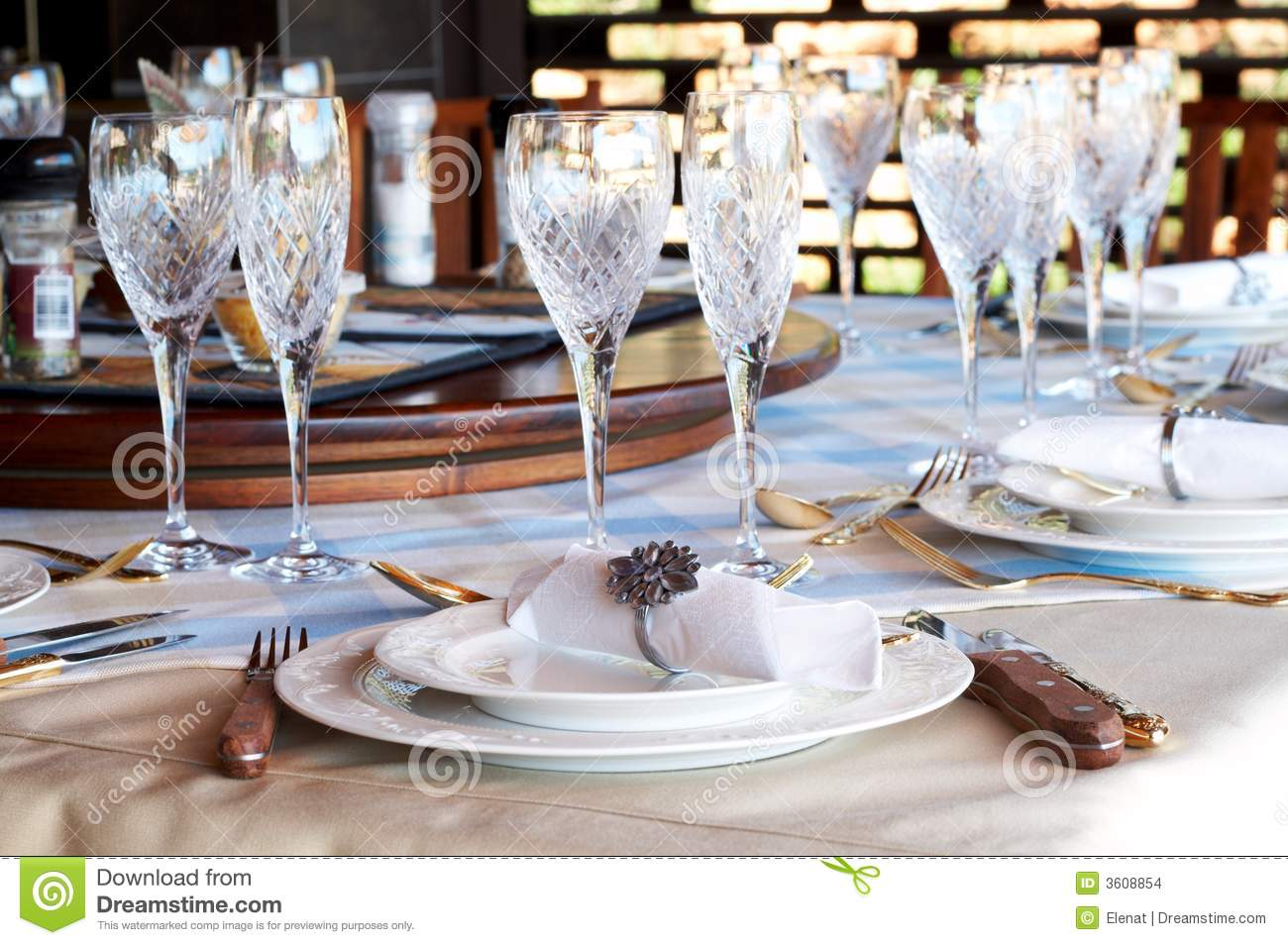 hight resolution of beautiful table setting with crystal glasses stock photo image of rh dreamstime com american formal table setting table setting diagram