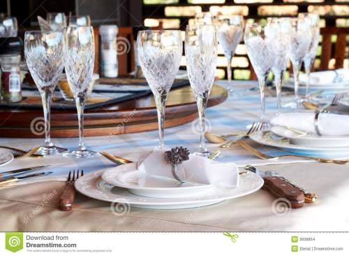 small resolution of beautiful table setting with crystal glasses stock photo image of rh dreamstime com american formal table setting table setting diagram