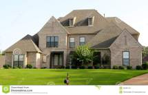 Brick House with Stucco Home Photos