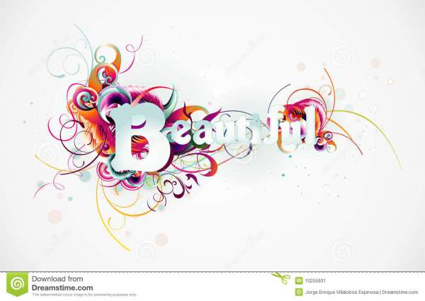 Beautiful text vector stock vector. Illustration of ...