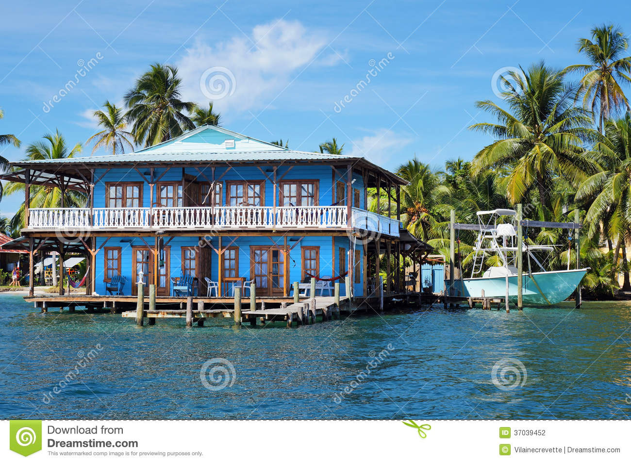 Best Kitchen Gallery: Beautiful Tropical House On Stilts In The Caribbean Stock Photo of Tropical Homes Of Caribbean on rachelxblog.com