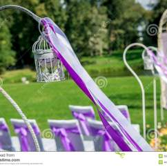 White Outside Chairs Industrial Dining Beautiful Wedding Decoration Stock Photos - Image: 35038193