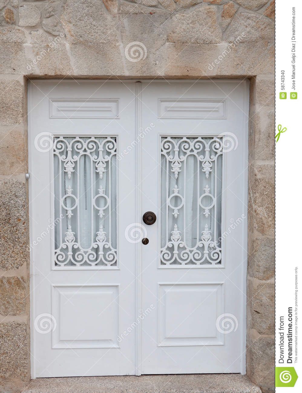 Beautiful White Door Stock Photo Image Of Gate, Entry