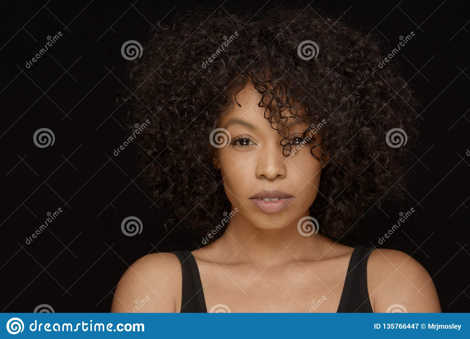 attractive young african american