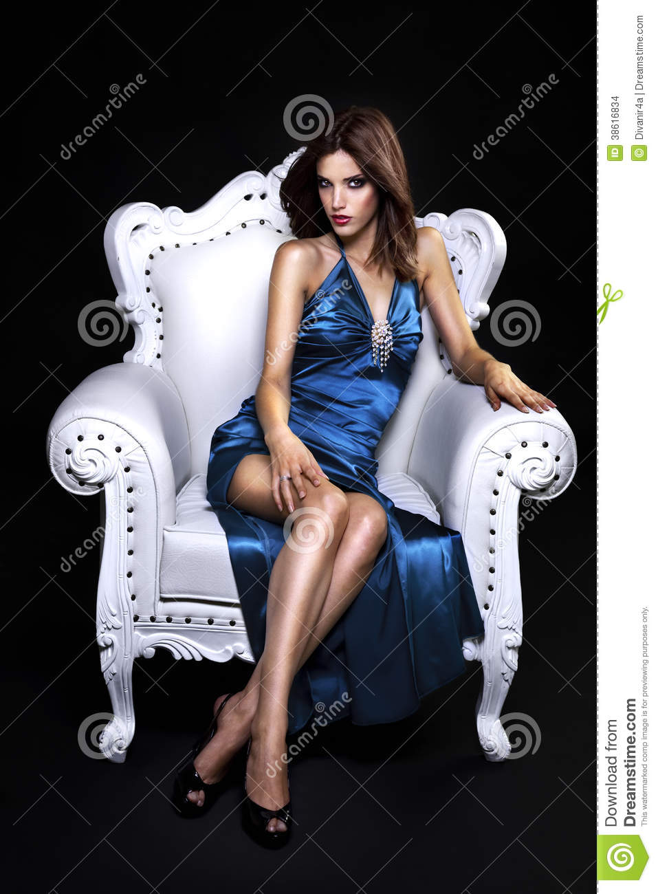 Beautiful Woman In A Chair Stock Images  Image 38616834