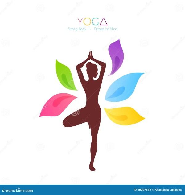 Beautiful Woman Yoga Stock Vector - 50297532