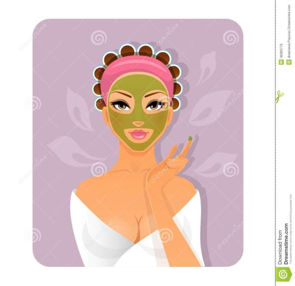 Beautiful Woman With Face-mask Stock Vector - Illustration Of Adult Healthcare 46383779