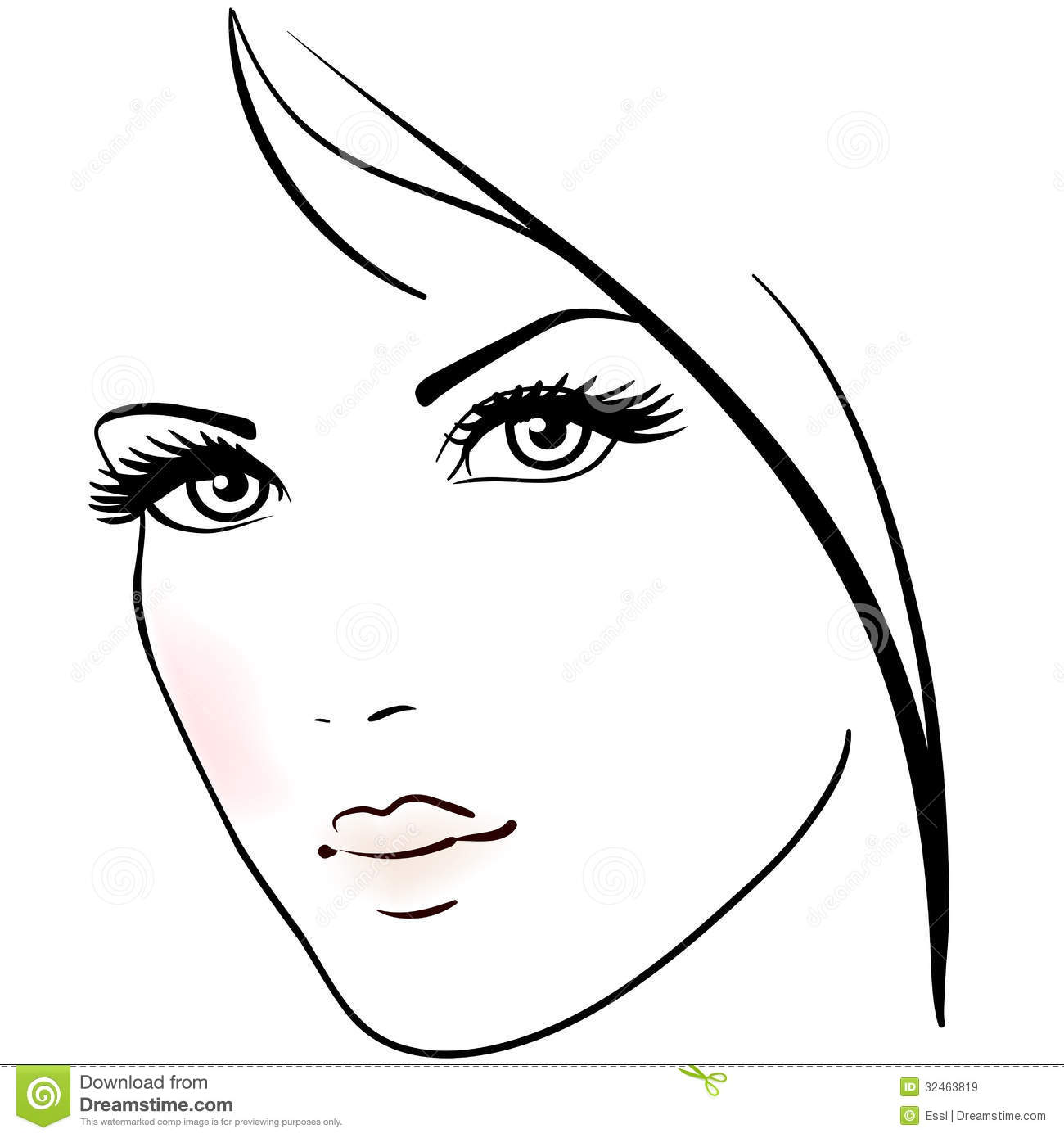 Beautiful Woman Face Royalty Free Stock Images
