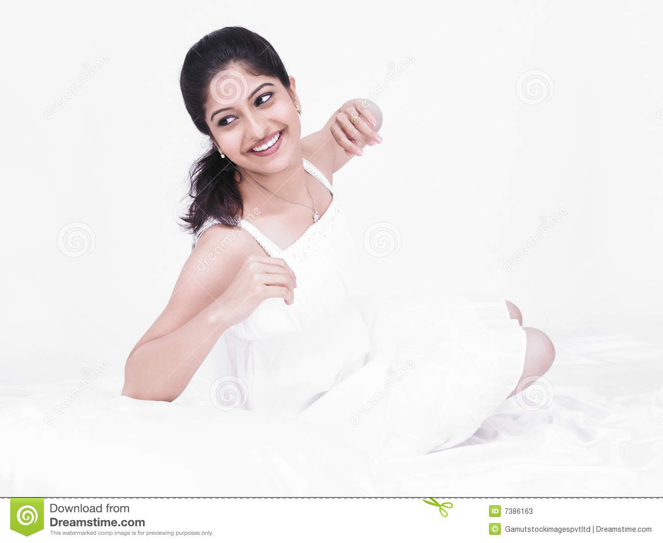 Beautiful Woman In Her Negligee Stock Photos Image 7386163