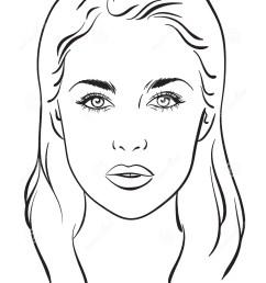 beautiful woman portrait face chart vector illustration stock [ 1065 x 1300 Pixel ]