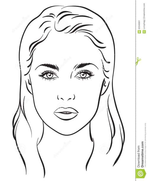 small resolution of beautiful woman portrait face chart vector illustration stock