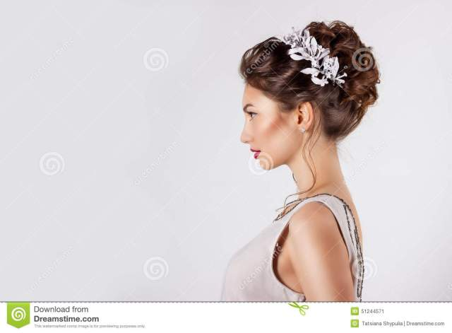 beautiful young girl in the image of the bride, beautiful