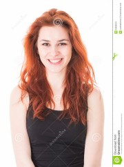 beautiful young lady with red hair