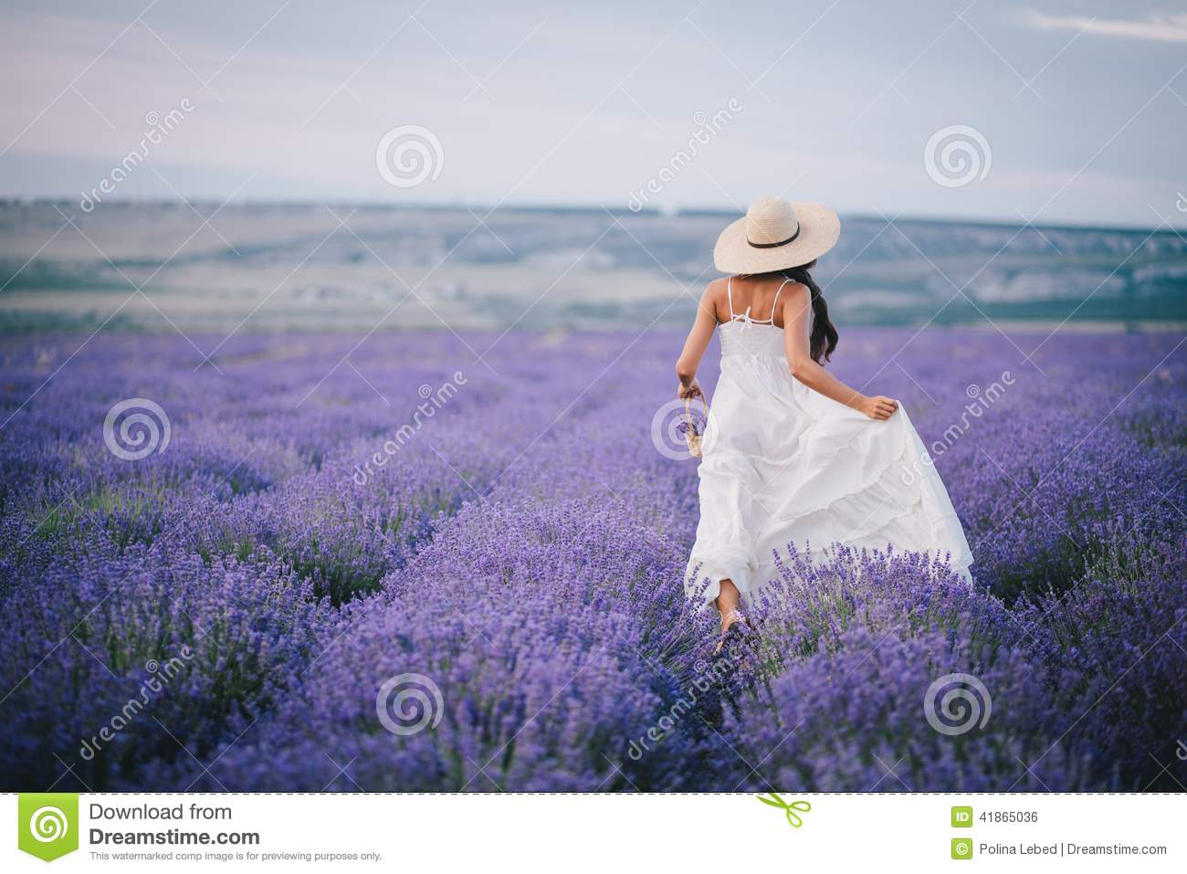 Girl Running On Beach Wallpaper Beautiful Young Woman Running In A Lavender Field Stock
