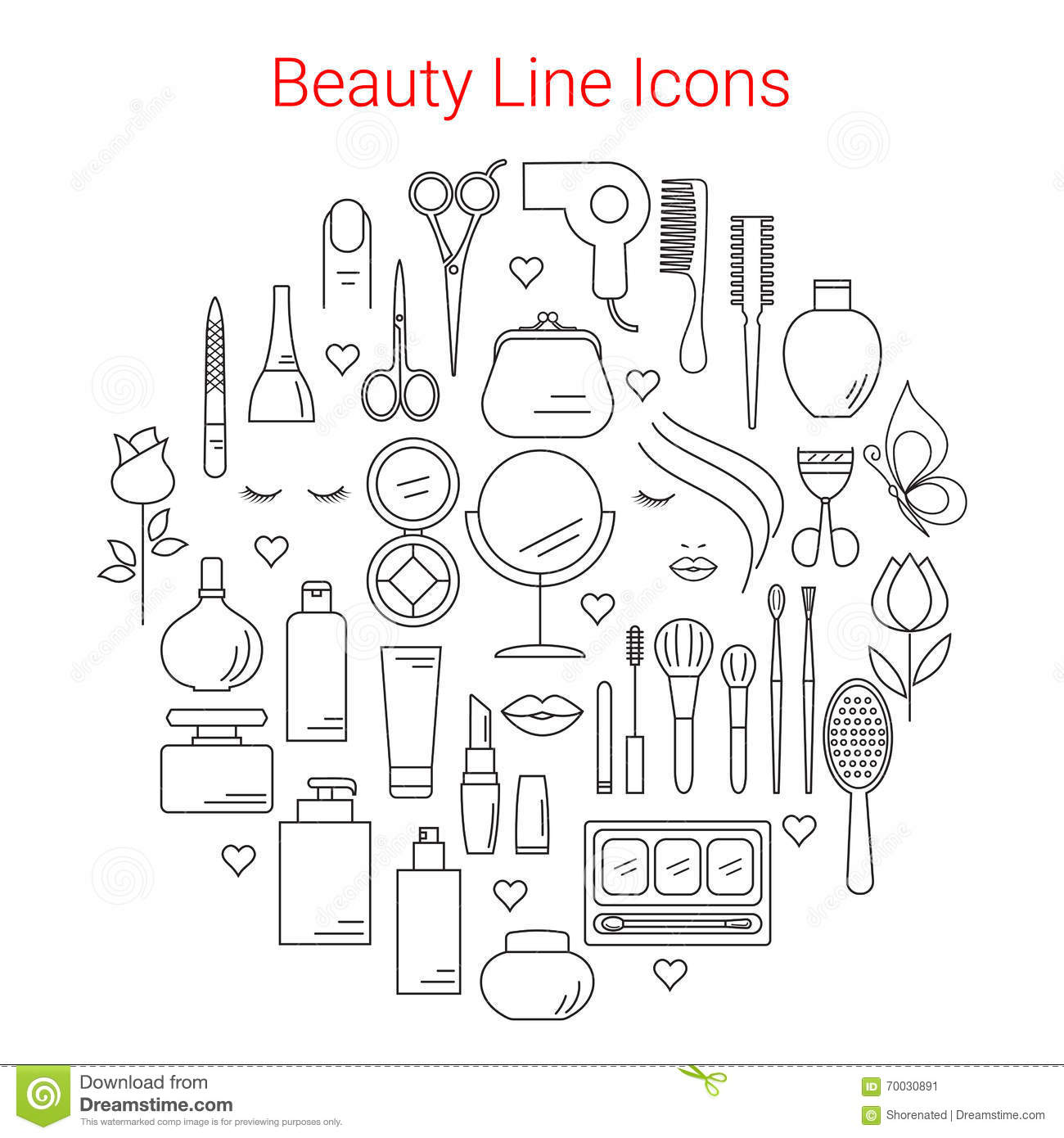 Beauty Icons Symbols And Design Elements Vector