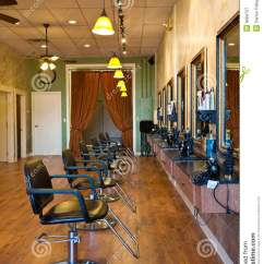 How To Clean Leather Chair Wooden High Tray Beauty Salon Interior Royalty Free Stock Photography - Image: 9684727