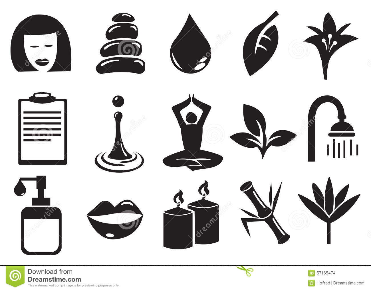 Beauty And Spa Vector Icon Set Stock Vector
