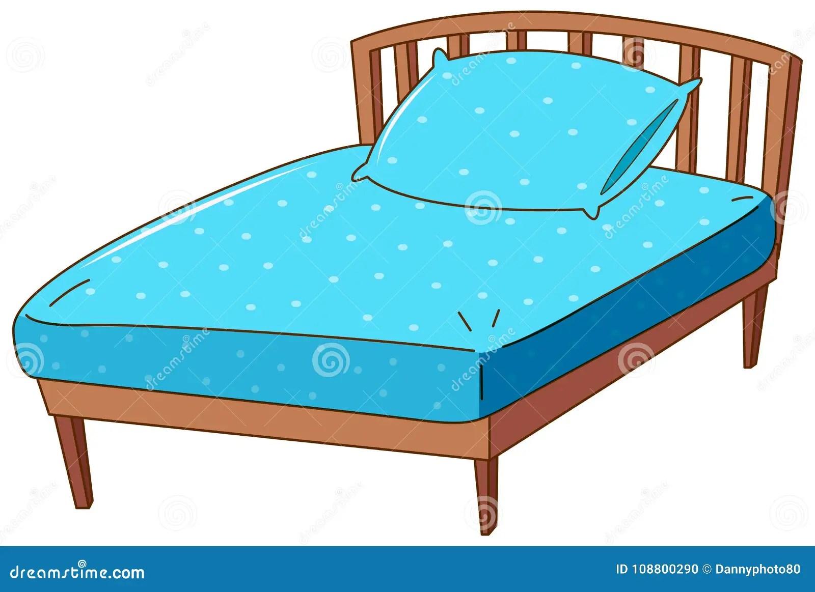 https www dreamstime com bed blue pillow sheet bed blue pillow sheet illustration image108800290