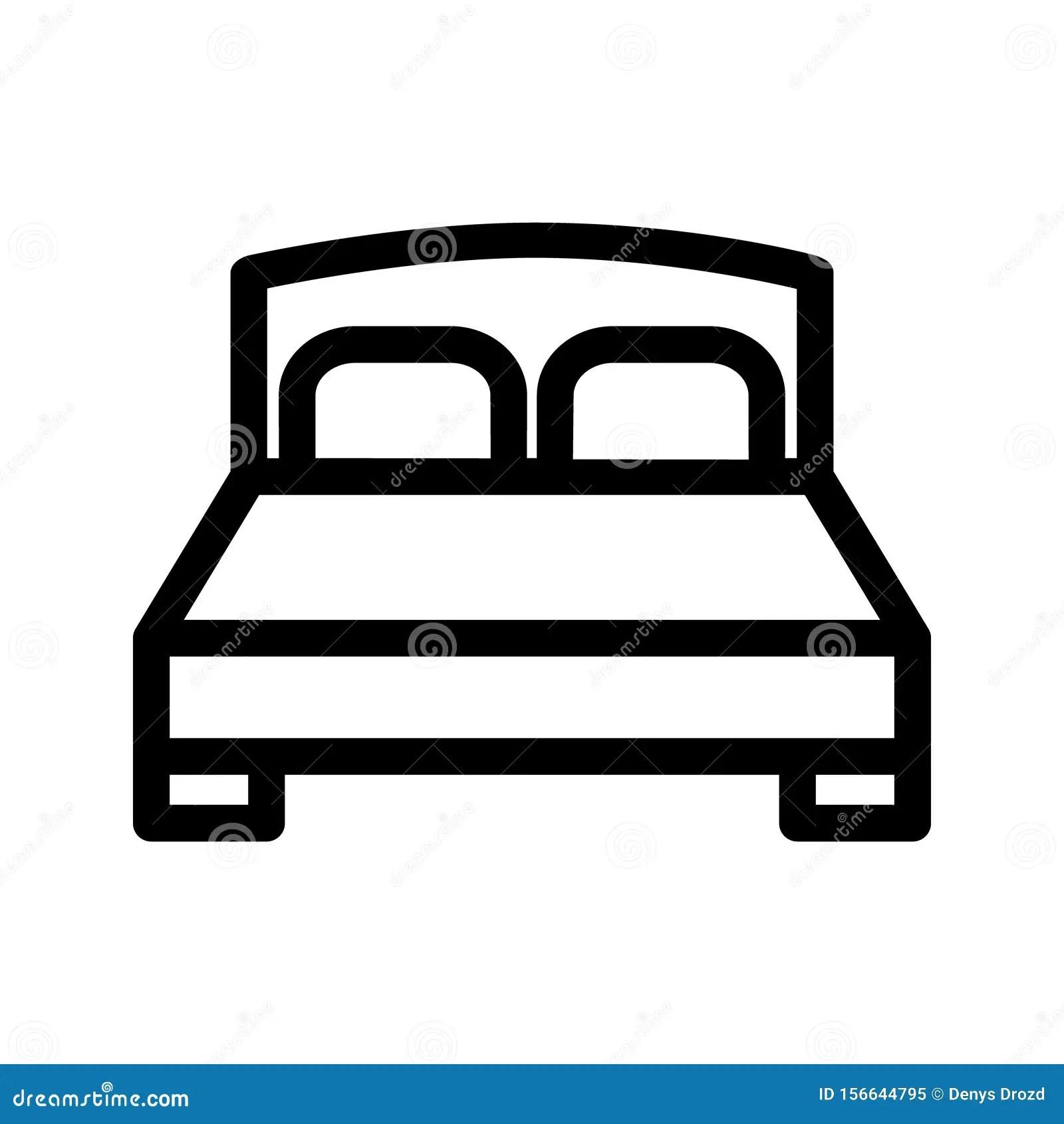 Bed Icon Vector Bedroom Illustration Symbol Hotel Logo Or Sign Stock Vector Illustration Of Motel Bedroom 156644795