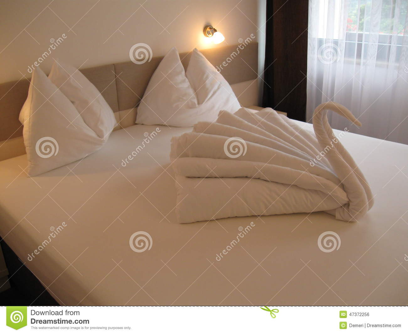 bed origami stock photo