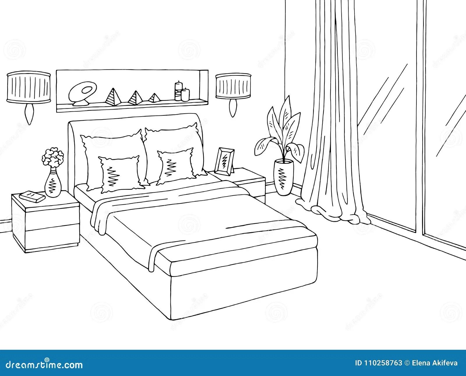 Bedroom Sketch Stock Illustrations 2 905 Bedroom Sketch