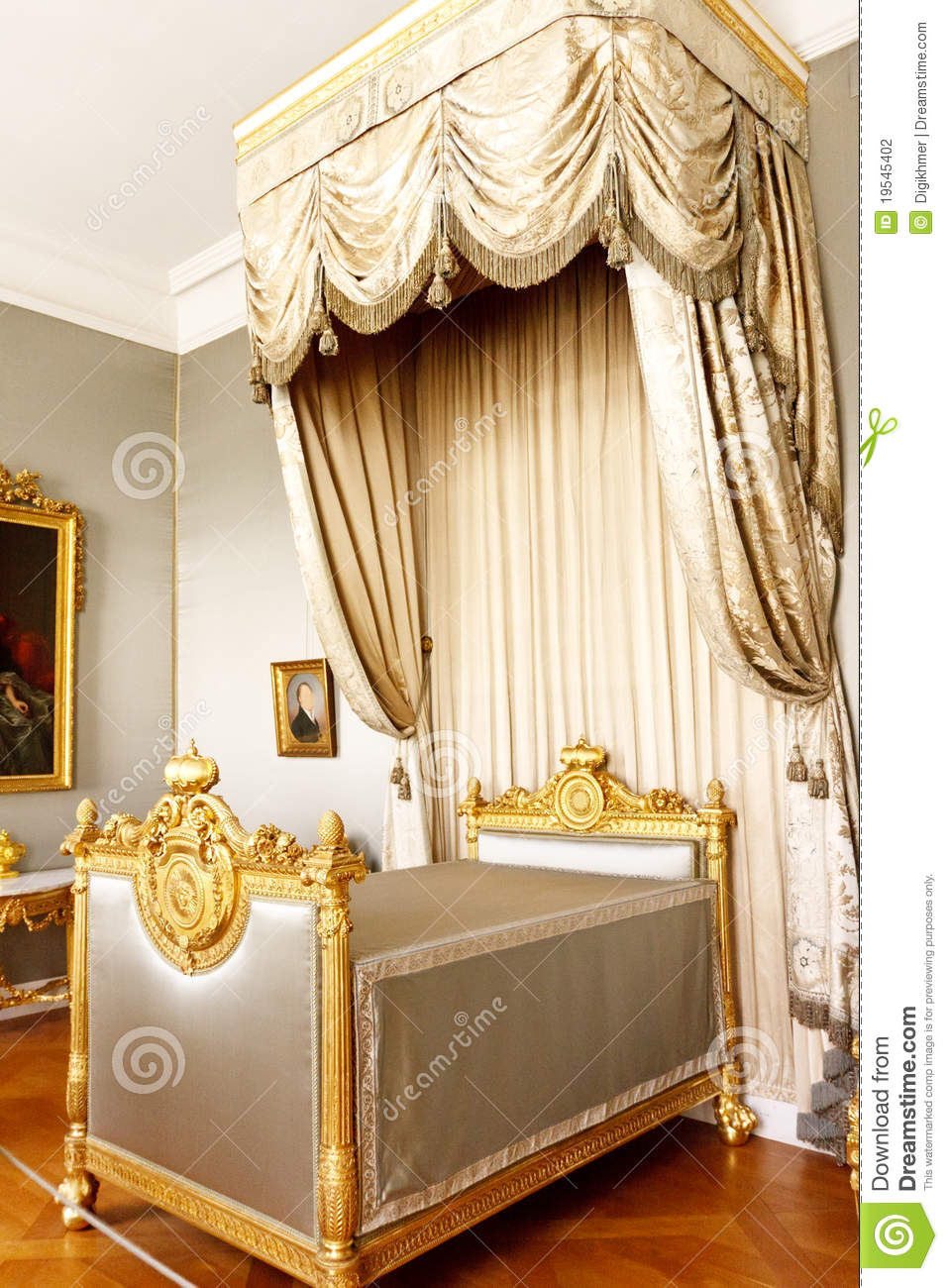 Bedroom With Royal Canopy Bed Stock Photo  Image 19545402