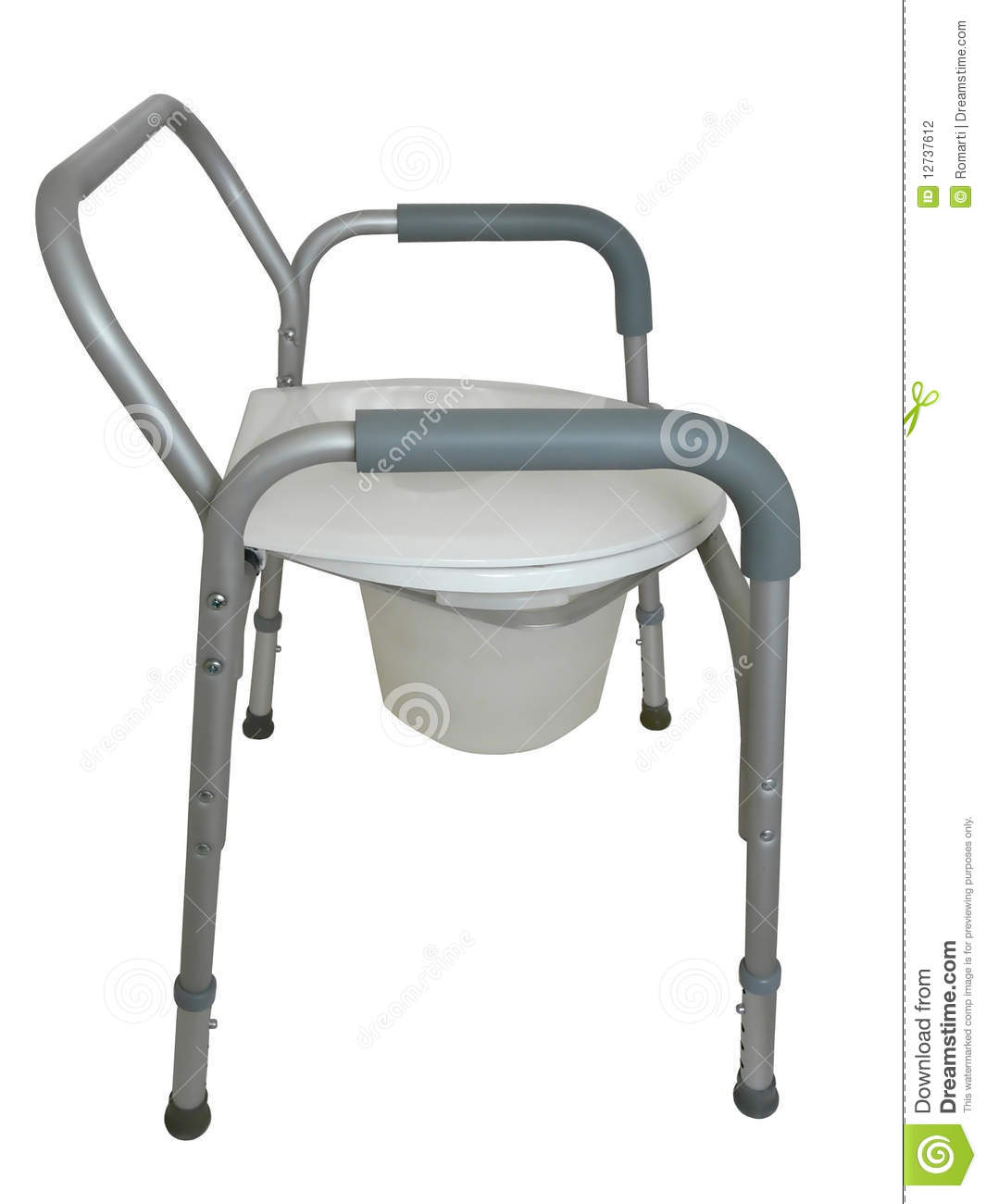 Bedside Commode Chair Bedside Commode Shower Chair Stock Photo Image 12737612