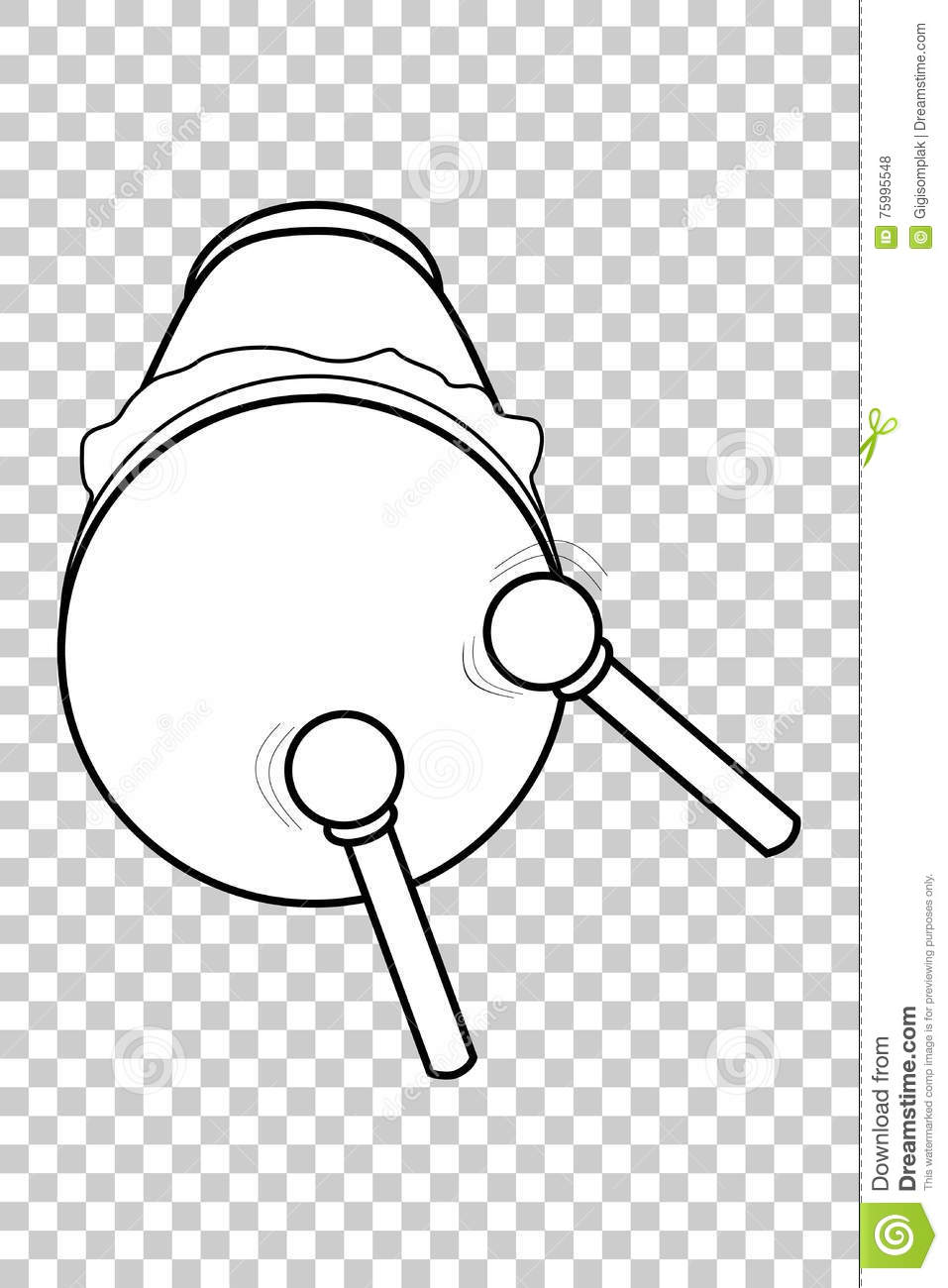 Bedug, (indonesia Traditional Drum) And Stick Vector