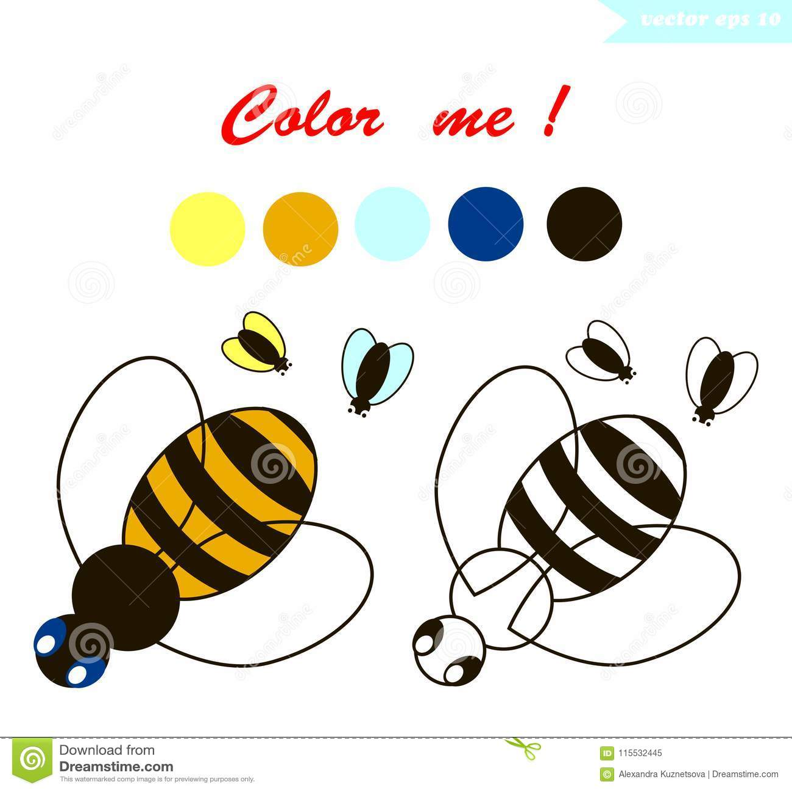 Simple Educational Kids Coloring Page Cartoon Vector