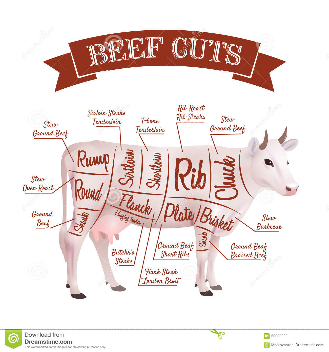 Cuts Of Meat From A Deer Butcher Diagram